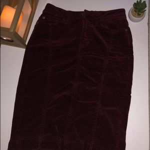J C Penney Joe Fresh Corduroy Skirt